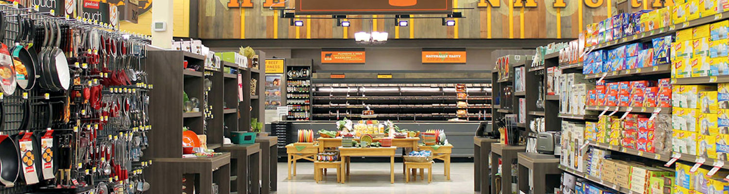 Grocery display fixtures, custom retail millwork, checkout & service counters