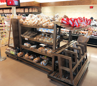 grocery and bakery fixture islands