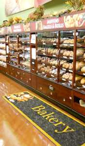 Bread or Pastry Walls for bakery or grocery - Bakery retail store fixtures
