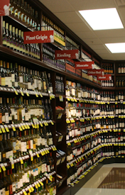 Retail wine display fixtures